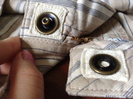 White Light Brown Blue Striped Casual 100 Percent  Cotton Shorts by Lee Size 16M image 11