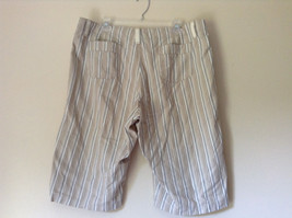 White Light Brown Blue Striped Casual 100 Percent  Cotton Shorts by Lee Size 16M image 6