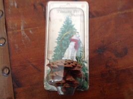 White Wolf with Scarf Real Pine Cone Pet Pine Cone Christmas Ornament image 2