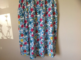 White Pink Blue Yellow Teal Tropical Floral Dress Lord and Taylor Size Large image 4