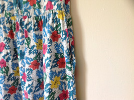 White Pink Blue Yellow Teal Tropical Floral Dress Lord and Taylor Size Large image 5