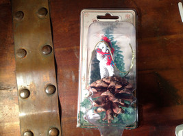 White Poodle with Scarf Real Pine Cone Pet Pine Cone Christmas Ornament image 6