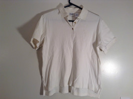 White Short Sleeve Golf Polo Top IZOD 100 Percent Cotton Size Medium image 2
