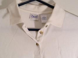 White Short Sleeve Golf Polo Top IZOD 100 Percent Cotton Size Medium image 4