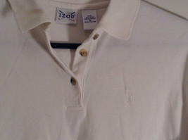 White Short Sleeve Golf Polo Top IZOD 100 Percent Cotton Size Medium image 3