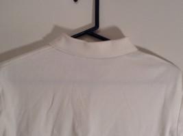White Short Sleeve Golf Polo Top IZOD 100 Percent Cotton Size Medium image 5