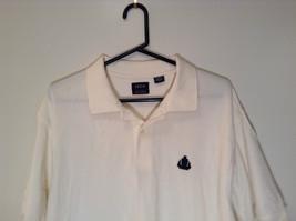 White Short Sleeve IZOD 100 Percent Cotton Polo Shirt Size XL Front Shorter image 2