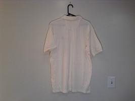 White Short Sleeve IZOD 100 Percent Cotton Polo Shirt Size XL Front Shorter image 5