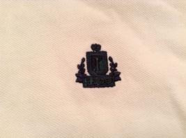 White Short Sleeve IZOD 100 Percent Cotton Polo Shirt Size XL Front Shorter image 6