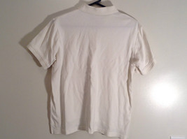 White Short Sleeve Golf Polo Top IZOD 100 Percent Cotton Size Medium image 6