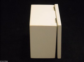 White Wooden Gift Box You're Never Too Old to Peek Christmas Decor w glitter image 2
