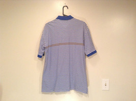 White and Blue Stripes Short Sleeve Tommy Hilfiger Polo Shirt Size XL image 5