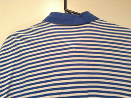 White and Blue Stripes Short Sleeve Tommy Hilfiger Polo Shirt Size XL image 6