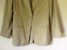 White and Light Brown Design Suit Jacket Blazer by Banana Republic Size 6 image 3