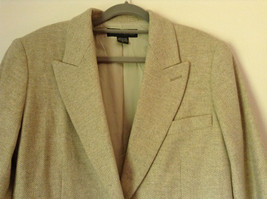 White and Light Brown Design Suit Jacket Blazer by Banana Republic Size 6 image 2