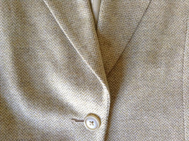 White and Light Brown Design Suit Jacket Blazer by Banana Republic Size 6 image 10