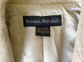 White and Light Brown Design Suit Jacket Blazer by Banana Republic Size 6 image 8