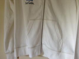 White Zip Up Long Sleeve Sweatshirt LOVE North Carolina RS For her Size Large image 4