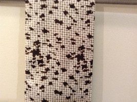 White and Brown Patterned Necktie or Scarf Pleats on one side image 5