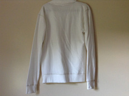 White Zip Up Long Sleeve Sweatshirt LOVE North Carolina RS For her Size Large image 7