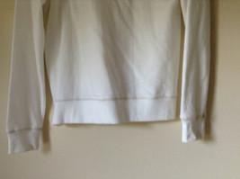 White Zip Up Long Sleeve Sweatshirt LOVE North Carolina RS For her Size Large image 9