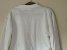 White Zip Up Long Sleeve Sweatshirt LOVE North Carolina RS For her Size Large image 8