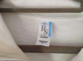 White Zip Up Long Sleeve Sweatshirt LOVE North Carolina RS For her Size Large image 6