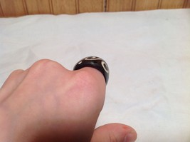 Wide Band Wooden Ring Handcrafted Double Swirl Design  Size 5 8 or 9 image 5