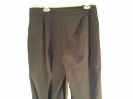 Willi Smith Stretch Dark Brown Casual Pants Crystals Down Side of Pants Size 14 image 4