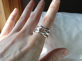 Wide Braided Bands Silver plated  Ring Size 8.5 and 8.75 Sold Separately image 2