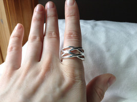 Wide Braided Bands Silver plated  Ring Size 8.5 and 8.75 Sold Separately image 4