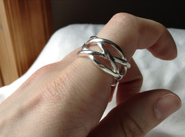 Wide Braided Bands Silver plated  Ring Size 8.5 and 8.75 Sold Separately image 5