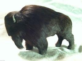 Wild Black Buffalo Animal Figurine - recycled rabbit fur image 5