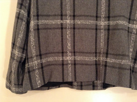 Willow Ridge Gray Black and White Pattern Long Sleeve Lined Blazer Button Front image 6