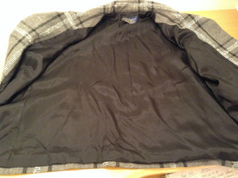 Willow Ridge Gray Black and White Pattern Long Sleeve Lined Blazer Button Front image 8