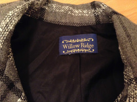 Willow Ridge Gray Black and White Pattern Long Sleeve Lined Blazer Button Front image 7