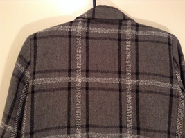 Willow Ridge Gray Black and White Pattern Long Sleeve Lined Blazer Button Front image 5