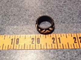 Wooden Hand Carved Ring With V Pattern Size 5, 7, 8, 10 image 5
