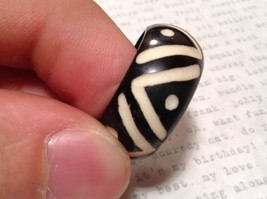 Wooden Hand Carved Ring With V Pattern Size 5, 7, 8, 10 image 3