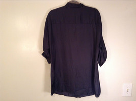 Worthington Long Sleeve Black Button Up Blouse Size M New with Tag Front Pockets image 7