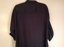 Worthington Long Sleeve Black Button Up Blouse Size M New with Tag Front Pockets image 8