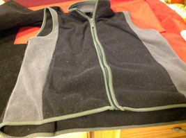 Woolrich Mens Black and Gray Fleece Sleeveless Zippered Vest size Large L image 5