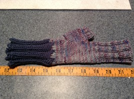 Woven Lavender Fingerless Gloves for Small Hands Hand Knitted VERY Soft image 4