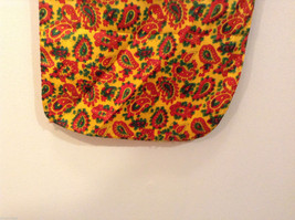 Yellow Red Green Paisley Patterned Scarf image 4