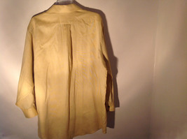 Yellow Honey Colored Button Up Collared Stafford Shirt Front Pocket Size 17 image 5
