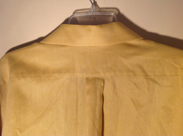 Yellow Honey Colored Button Up Collared Stafford Shirt Front Pocket Size 17 image 6