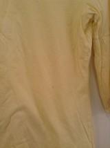 Yellow V Neck Three Quarter Length Sleeves Top New York and Company Size Medium image 4