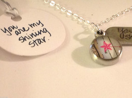 You are my shining star  charm pendant necklace in pewter image 2
