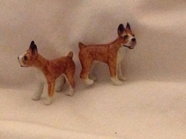 ceramic miniature dog cute little standing Boxer image 3