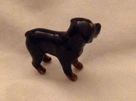 ceramic miniature dog cute little standing Rottweiler and one sitting image 7